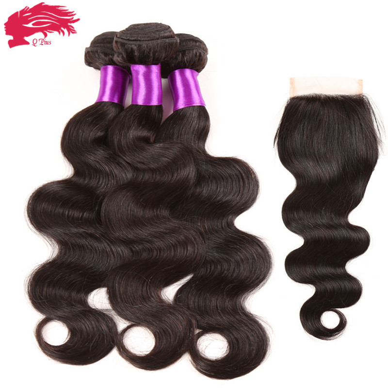 Best Brazilian Body Wave With Closure 7A Brazilian Virgin Hair With Closure 4 Bundles With Closure Top Lace Closure With Bundles