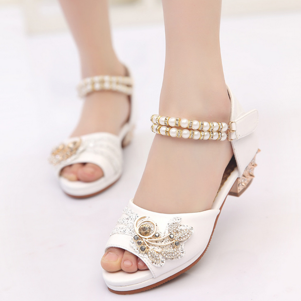 Boutique children shoes 2017 summer girls tide section of the United States and the United States high-heeled for sandals girls