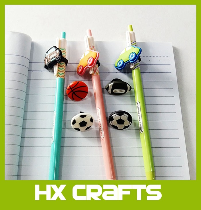All license available OEM premium pencil decoration cartoon pen topper pencil tops