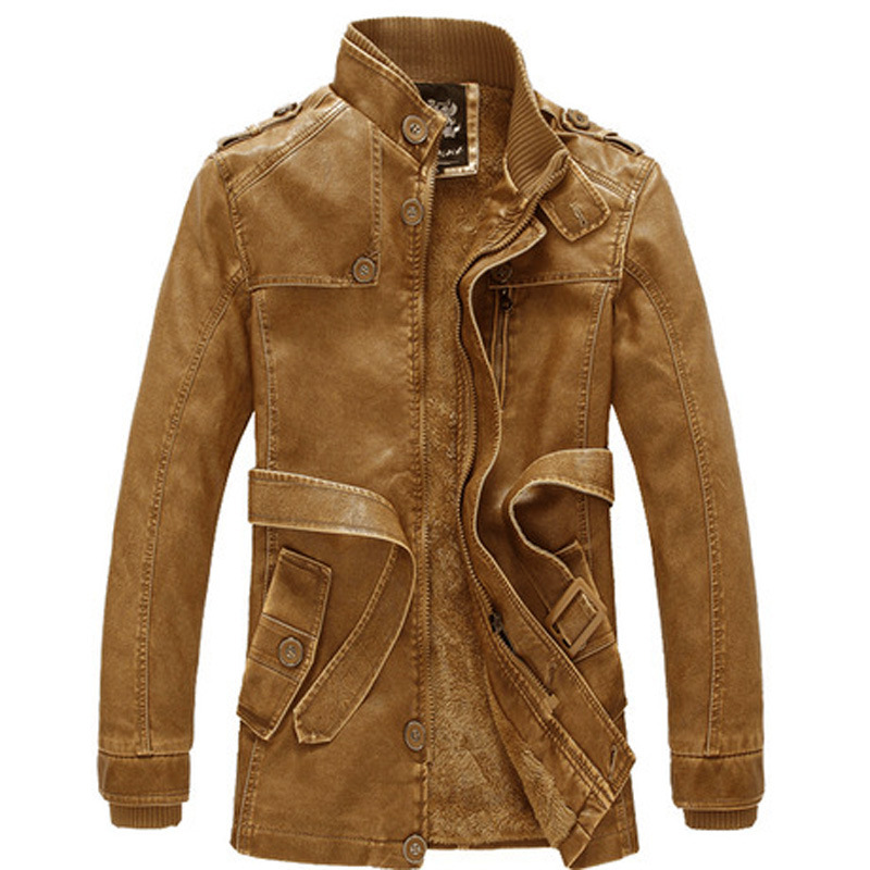 Fashion Clothing 2017 Leather Jacket Man Winter