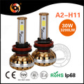 Factory cheap electric car A2 automobile bulb H11 car lighting LED Headlight replace fog light