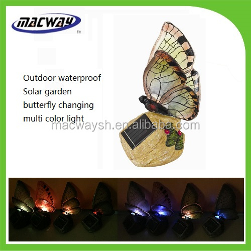 Factory hot selling led sun butterfly outdoor solar light