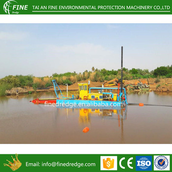 Mini hydraulic cutter suction dredger