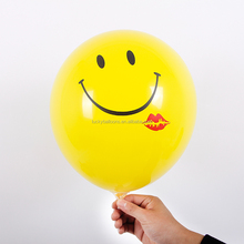 wholesale 12inch yellow smile face balloon latex balloon for party decoration