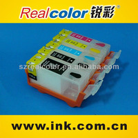 Realcolor High quality PGI-725/CLI-726 refillable cartridge for IP4870/MG5170/MG5270/MG8170/MG6170 ink cartridge with ARC chip