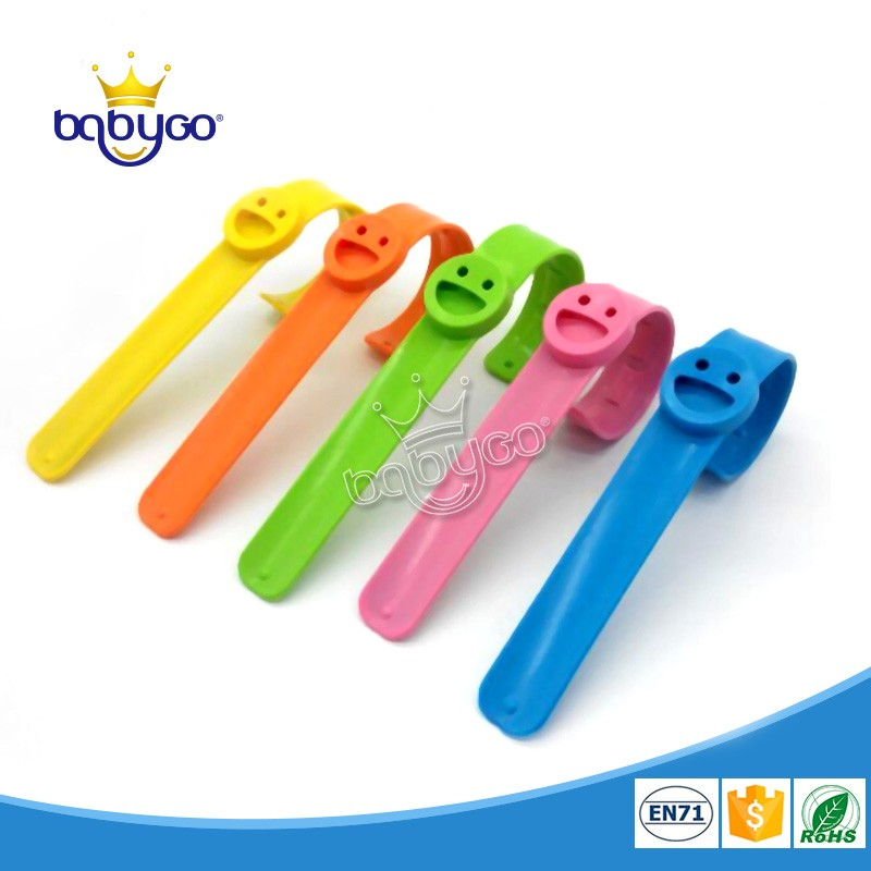 Outdoor effective adjustable silicone anti mosquito wristband