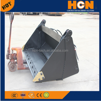 HCN brand 0104 series skid steer attachments 4 in 1 bucket for bobcat