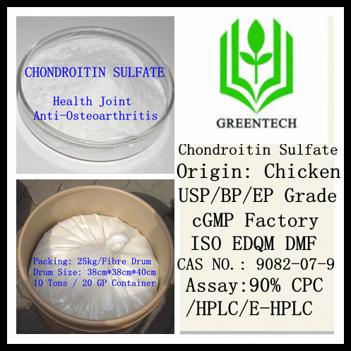 Hot Sell cGMP Factory Products Chondroitin Sulfate Chicken 90% USP grade