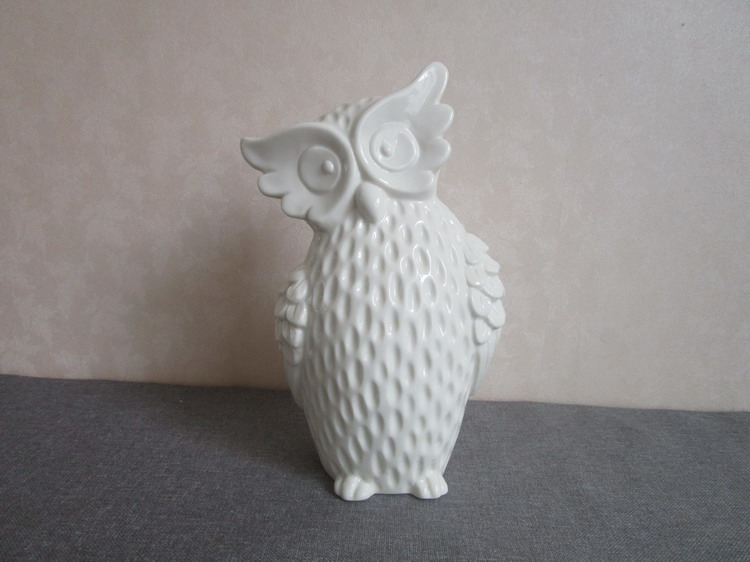 2017 New design white ceramic owls for sale