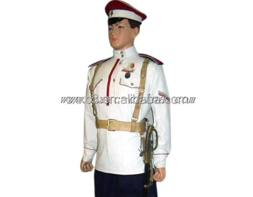 White army navy military uniform for officers with epaulette ceremonial navy Uniform