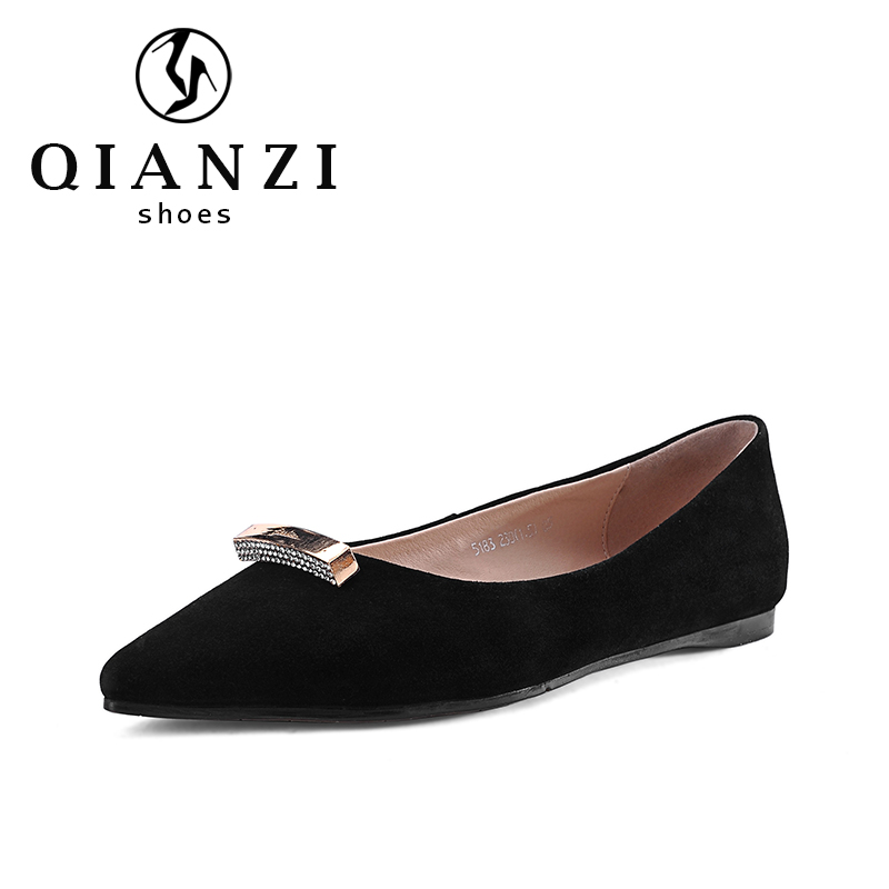 5183 wholesale fancy ladies footwear model women black dress shoes flats