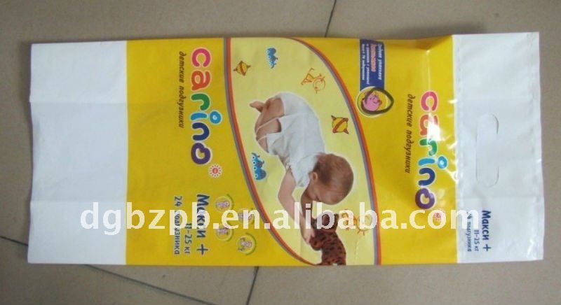 2014-wet wipes packaing bag with sticker
