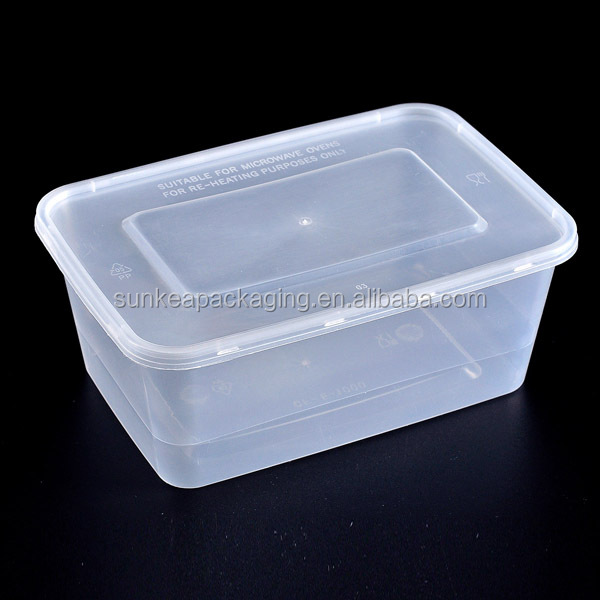 Stackable plastic food box