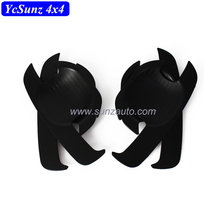 Pickup trucks 2010 Vigo parts ABS Plastic Black door handle insert bows Door wrist For Vigo 2005 accessories