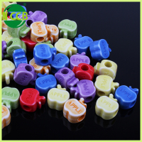 big hole fruit shape mix color DIY coloful bead designs for kids