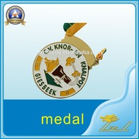 Wholesale Souvenir custom plastic medal with ribbon