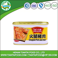ready to eat HACCP ISO 198gram spam quality canned pork luncheon meat