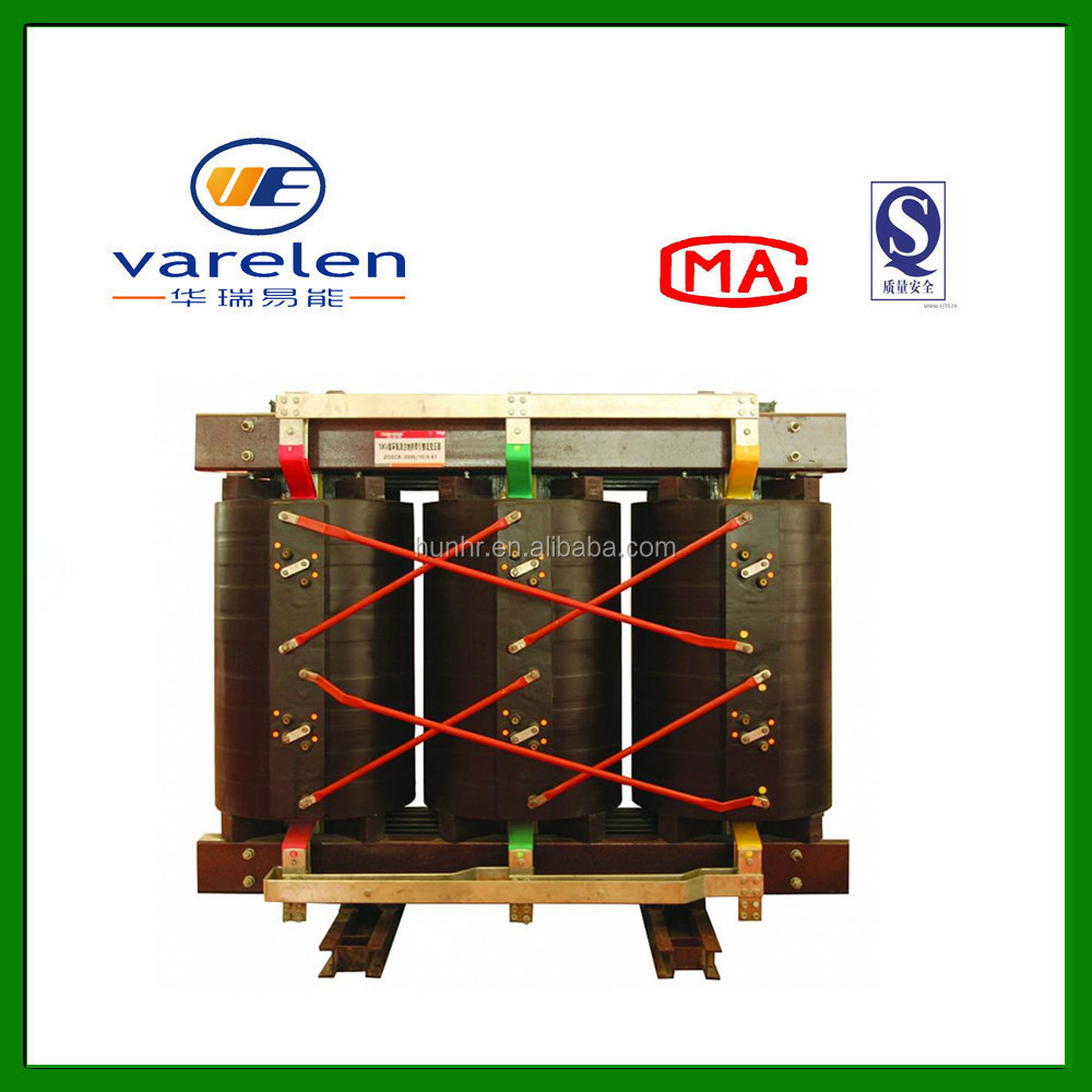 high quality 11kv 33kv 2500kVA dry type power transformer