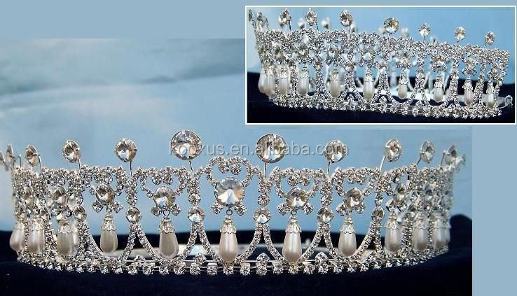 Miss Beauty Pageant Queen Rhinestone Crown and Tiaras