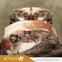 4 Piece microfiber Home Bedding animal printed 3d duvet cover set