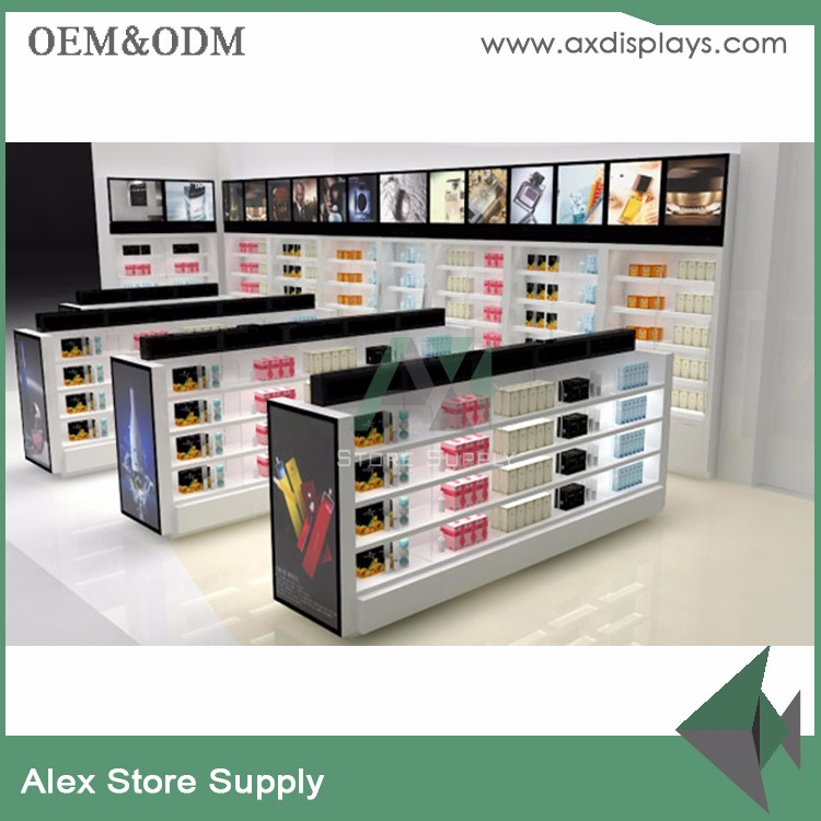 Skin care products furniture display wall cabinet for shopping mall
