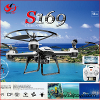 Hottest 2.4Ghz 6 Axis gyro long flight time rc helicopter quadcopter with mini wifi camera