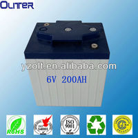 6v 200ah gel lead acid battery (CE ISO9001 ISO14001 ROHS)
