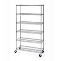 Environmentally-friendly 6-Tier wire shelving with silence wheels Warehouse Storage wire shelving Heavy duty wire shelving