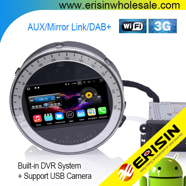 "Erisin ES4717B 7"" Android 7.1 DAB+ Car Audio System with GPS WiFi Canbus for Mini Cooper"