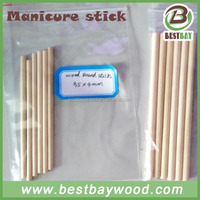 Disposable Wooden Nail Stick customized printed manicure stick