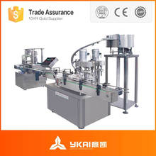 Glass/Plastic Bottle Filling Capping and Labeling Machine