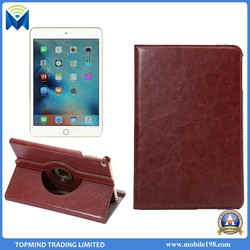 Hot selling 360 degree rotatable stand case for ipad mini 4 tablet case