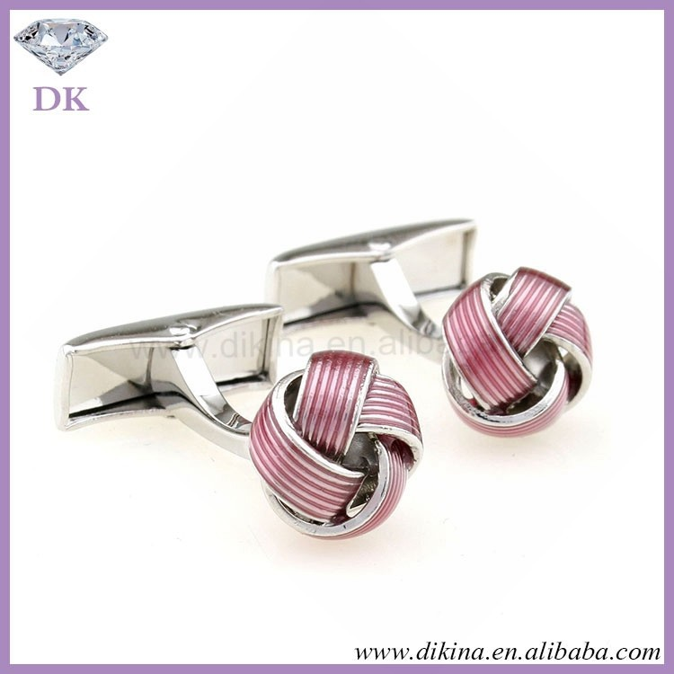 Man Gift ^ novelty cufflink and tie pin set / Lots Jewelry stainless Steel Vintage Silver Pink cheap Men's silk knot cufflinks