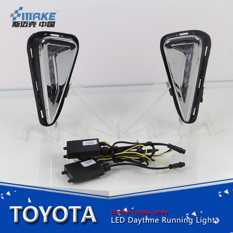 car styling for camry 2015-2016 led daytime running light led drl for camry with yellow signal