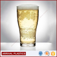 plastic conical schooner 450 ml BPA free thick heavy base beer cups plastic Beverage cups