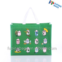 Promotional waterproof foldable bag laminated non woven tote shopping bag with custom logo