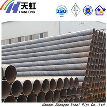 SSAW Steel Pipes With Black Coatings - With Attractive Price