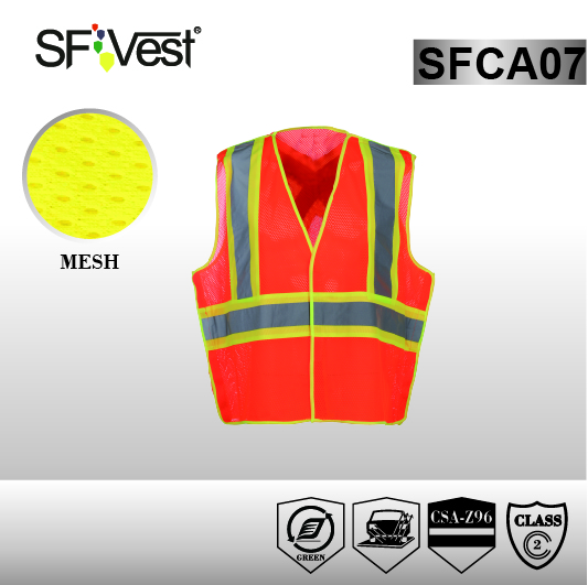 Security Biker Motorcycle Reflective types of Mesh fabric Safety Vest with CSA Z96