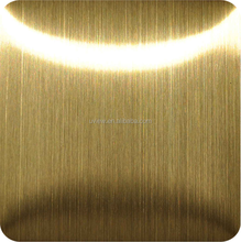 201 304 430 titanium gold NO.4 brushed stainless steel sheet