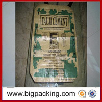Chinese factory laminated pp woven cement bag/empty cement bag/cement packing kraft paper bag