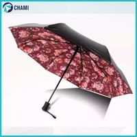 Sun rain trendy cheap big folding mobile umbrella