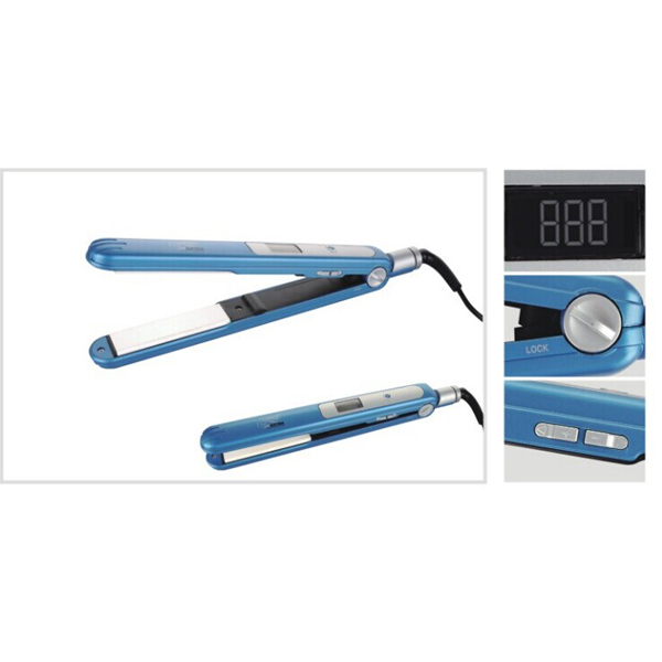 Professional LCD temperature control hair straightener with temperature control