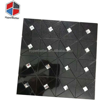 Mixture glass black marble mosaic for bathroom