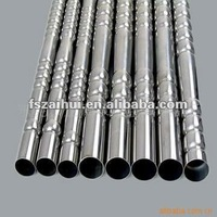 astm tp304 201 shiny finish round lightweight steel tubing/pipe