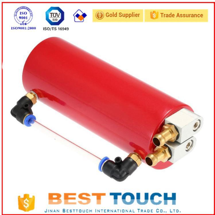 Factory direct prices red round 2l oil catch tank racing car 750ml oil catch tank for foton tractor parts