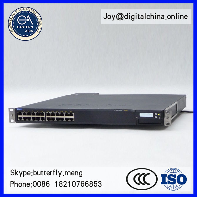 Original New! Juniper EX4200-24P 24-PORT PoE 10/100/1000 GIGABIT ETHERNET SWITCH+EX-PWR-600-AC