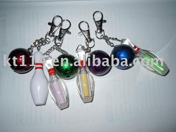 hot sale new design bowling ball and bowling pin set keychain