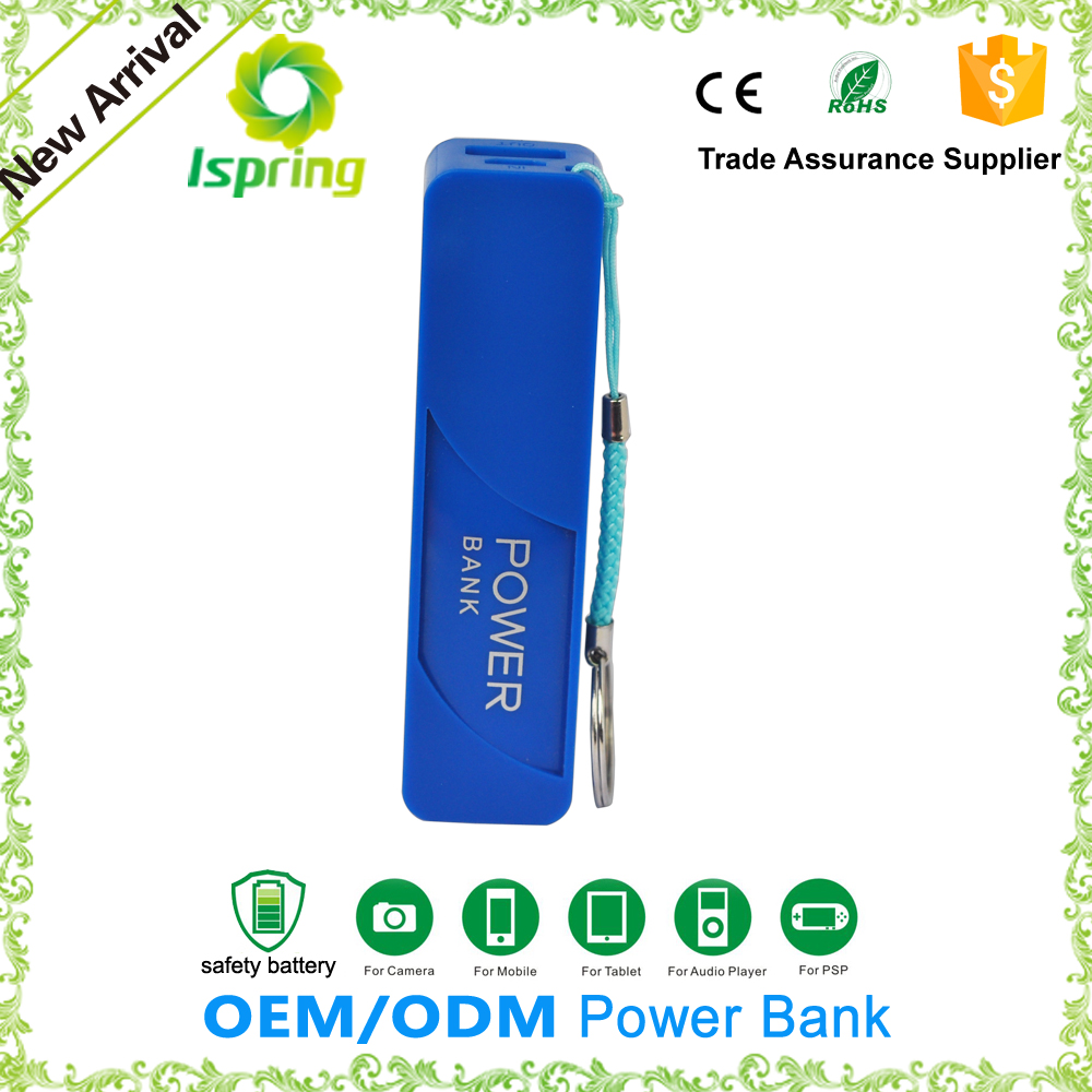 Wholesale portable mobile powerbank smart with perfume bottle shape 2600mah