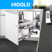 Kitchen cabinet design iron basket magic corner with anti slip