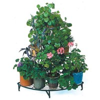 Outdoor 3 Tier Antique Metal Flower Pot Wire Plant Stand